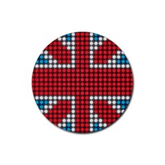 The Flag Of The Kingdom Of Great Britain Rubber Coaster (round)
