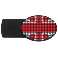 The Flag Of The Kingdom Of Great Britain USB Flash Drive Oval (1 GB)