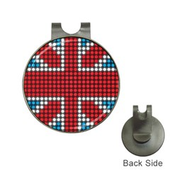 The Flag Of The Kingdom Of Great Britain Hat Clips With Golf Markers