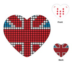 The Flag Of The Kingdom Of Great Britain Playing Cards (Heart)