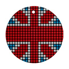 The Flag Of The Kingdom Of Great Britain Round Ornament (Two Sides)