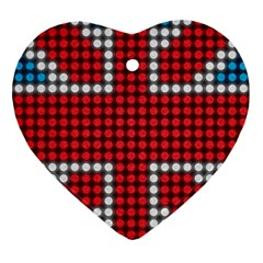 The Flag Of The Kingdom Of Great Britain Heart Ornament (Two Sides)
