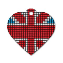 The Flag Of The Kingdom Of Great Britain Dog Tag Heart (Two Sides)