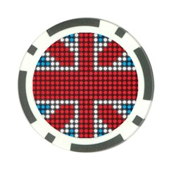 The Flag Of The Kingdom Of Great Britain Poker Chip Card Guard (10 pack)