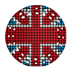 The Flag Of The Kingdom Of Great Britain Round Filigree Ornament (Two Sides)