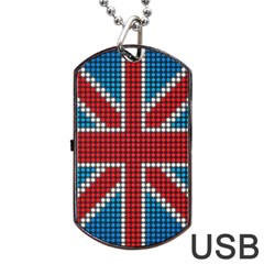 The Flag Of The Kingdom Of Great Britain Dog Tag USB Flash (One Side)