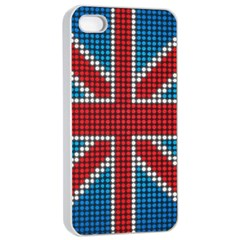The Flag Of The Kingdom Of Great Britain Apple Iphone 4/4s Seamless Case (white)