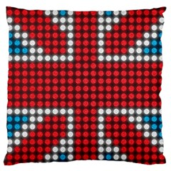 The Flag Of The Kingdom Of Great Britain Large Cushion Case (one Side)