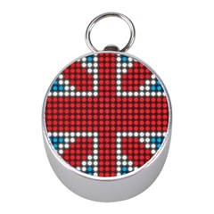 The Flag Of The Kingdom Of Great Britain Mini Silver Compasses