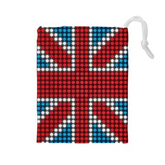 The Flag Of The Kingdom Of Great Britain Drawstring Pouches (large)