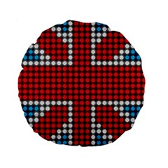 The Flag Of The Kingdom Of Great Britain Standard 15  Premium Flano Round Cushions