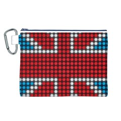 The Flag Of The Kingdom Of Great Britain Canvas Cosmetic Bag (l)