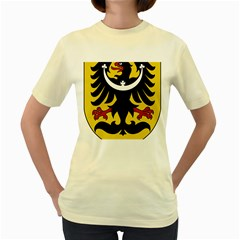Silesia Coat of Arms  Women s Yellow T-Shirt