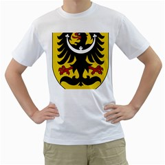 Silesia Coat of Arms  Men s T-Shirt (White) (Two Sided)