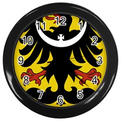 Silesia Coat of Arms  Wall Clocks (Black)