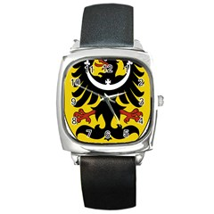 Silesia Coat of Arms  Square Metal Watch