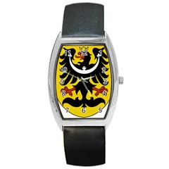 Silesia Coat of Arms  Barrel Style Metal Watch