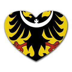 Silesia Coat of Arms  Heart Mousepads