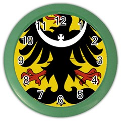 Silesia Coat of Arms  Color Wall Clocks