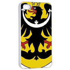 Silesia Coat of Arms  Apple iPhone 4/4s Seamless Case (White)