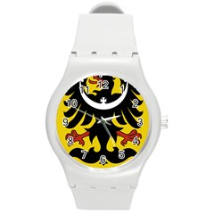 Silesia Coat of Arms  Round Plastic Sport Watch (M)