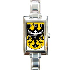 Silesia Coat of Arms  Rectangle Italian Charm Watch