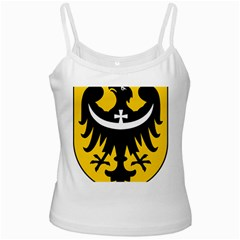 Silesia Coat of Arms  White Spaghetti Tank