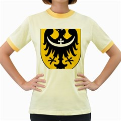 Silesia Coat of Arms  Women s Fitted Ringer T-Shirts