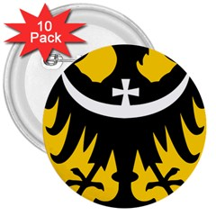 Silesia Coat of Arms  3  Buttons (10 pack)