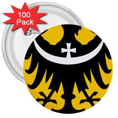 Silesia Coat of Arms  3  Buttons (100 pack)