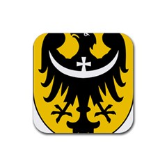 Silesia Coat of Arms  Rubber Square Coaster (4 pack)