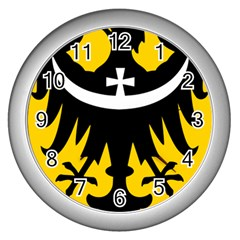 Silesia Coat of Arms  Wall Clocks (Silver)