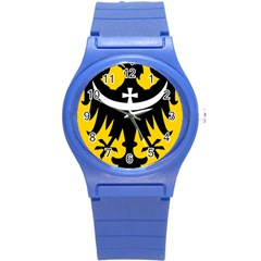Silesia Coat of Arms  Round Plastic Sport Watch (S)