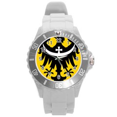 Silesia Coat of Arms  Round Plastic Sport Watch (L)