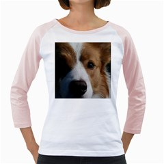 Red Border Collie Girly Raglans