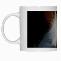 Red Border Collie White Mugs