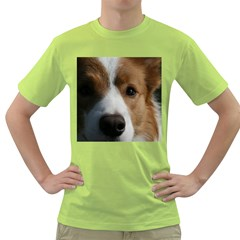 Red Border Collie Green T-Shirt