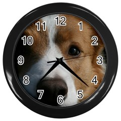 Red Border Collie Wall Clocks (Black)