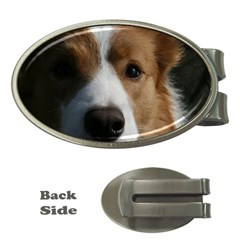 Red Border Collie Money Clips (Oval)