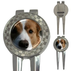 Red Border Collie 3-in-1 Golf Divots