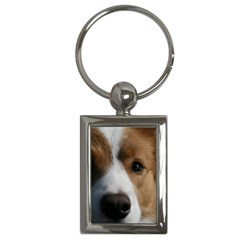 Red Border Collie Key Chains (Rectangle)