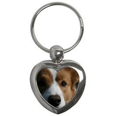 Red Border Collie Key Chains (Heart)