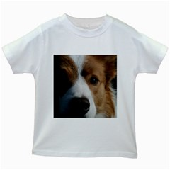 Red Border Collie Kids White T-Shirts