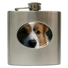 Red Border Collie Hip Flask (6 oz)