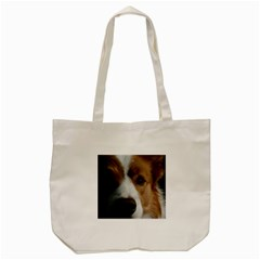 Red Border Collie Tote Bag (Cream)
