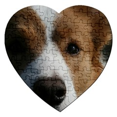 Red Border Collie Jigsaw Puzzle (Heart)