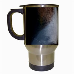 Red Border Collie Travel Mugs (White)