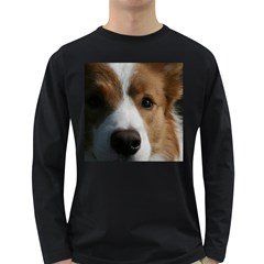 Red Border Collie Long Sleeve Dark T-Shirts