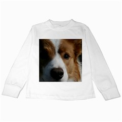 Red Border Collie Kids Long Sleeve T-Shirts