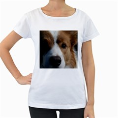 Red Border Collie Women s Loose-Fit T-Shirt (White)